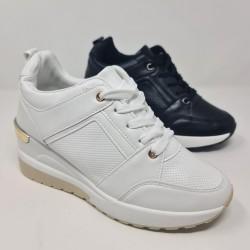 Sneakers Cuña Cordon Mod  BY-1302