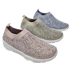Sneakers Elástica Brillos Mod 1QQ-0292 BL
